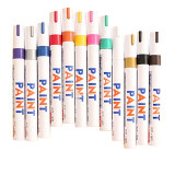 12 Pcs Color Waterproof Permanent Oil Based Art Draw Paint Marker Pen Signature Pen Set ถูก