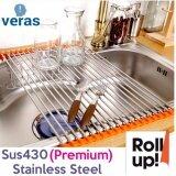 ซื้อ 12 Roll Excellent Space Saver Sink Roll Stainless Steel High Quality Silicone Big Size Intl ใน เกาหลีใต้