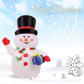 1.2 เมตรเป่าลมมือ Snowman สำหรับคริสต์มาสน่ารัก Inflatable Xmas ตกแต่ง 3.9ft