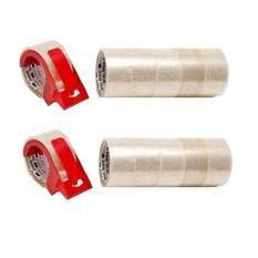 12ม้วน ที่ตัด2ชิ้น เทปปิดกล่อง 305 สีใส 48มมX40เมตร 305 Tartan Box Sealing Tape Trans 48Mmx40M 12Rls 2Dispenser ถูก