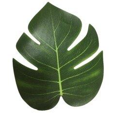 12Pcs 8 Imitation Plant Leaves Hawaiian Luau Party Jungle Beach Theme Decorations For Birthdays Prom Events (Green) Intl Unbranded Generic ถูก ใน จีน