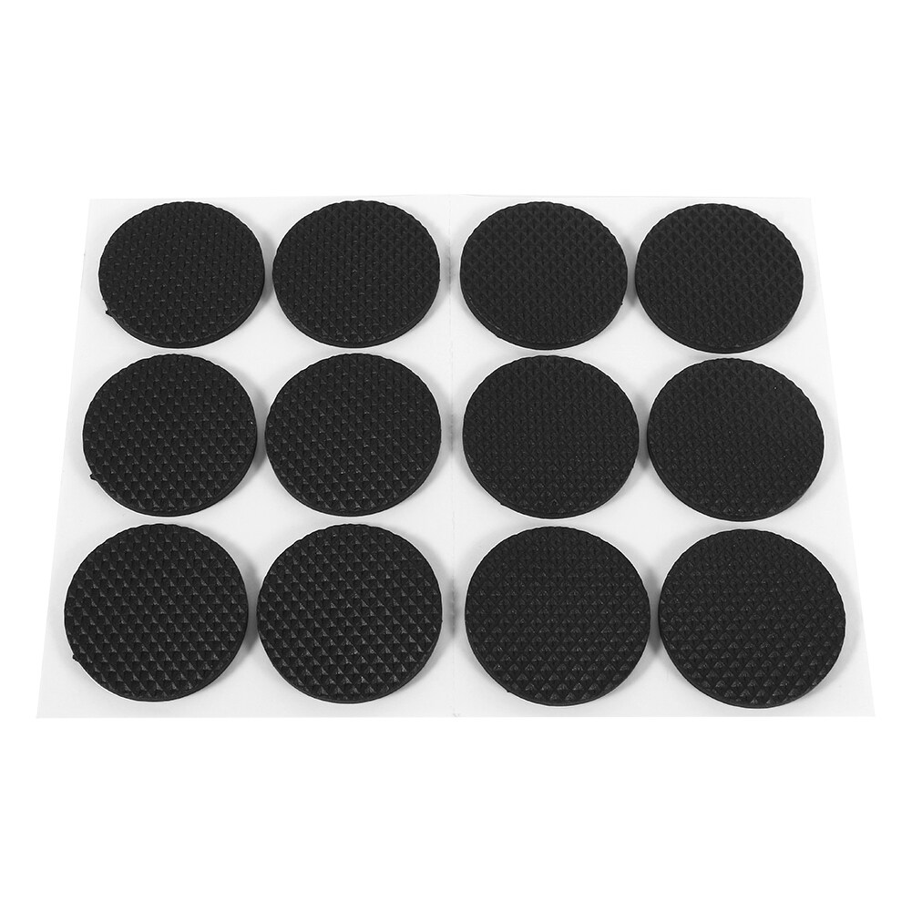 epayst 12Pcs Black Non-slip Self Adhesive Protectors Furniture Desk Pads