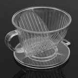 1 2Pcs Plastic Clear Coffee Filter Cup Cone Drip Dripper Maker Brewer Holder New Intl ใน จีน