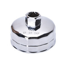 14 Flutes Oil Filter Cartridge Cap Wrench Tool Socket Remover Wrench Socket Tool #901 Silver