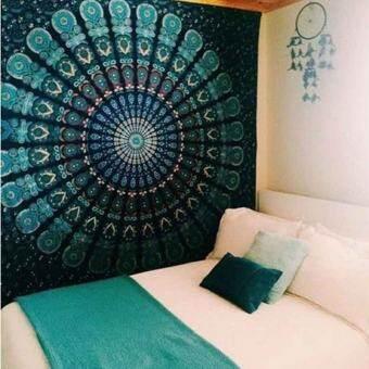 แนะนำ 150cmx130cm Boho Wall Carpet Tapestry Mandala Tapestry Crystal s Blue Wall Art Tapestry Indian Decoration