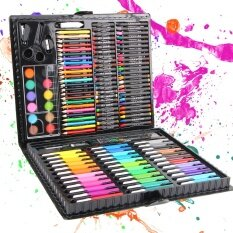 ซื้อ 150Pcs Set Children Drawing Set Painting Art Set Water Color Pen Crayon Oil Pastel Paint Brush Drawing Tool Art Sch**l Intl ใหม่ล่าสุด