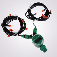 ส่วนลด 15M 4Mm Hose With Micro Drip Irrigation Kit With Nozzle Sprinkler And Timer Vakind Thailand