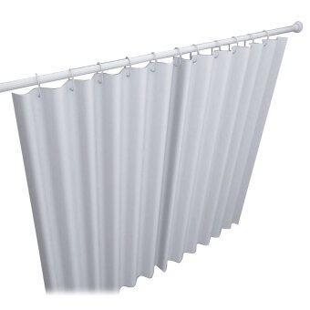 ราวแขวนม่านอลูมิเนียมแบบตรงระบบเกลียว 160-300 ซม. สีขาว