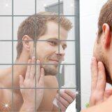 16Pcs Bathroom Square Removeable Self Adhesi Ve Mosaic Tiles Mirror Wall S Tickers Home Decor Intl เป็นต้นฉบับ