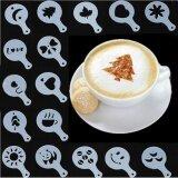 ขาย ซื้อ 16Pcs กาแฟลาเต้ Cappuccino Barista อาร์ต Stencils เค้ก Duster แม่แบบเครื่องมือกาแฟอุปกรณ์เสริม Gusto Intl จีน