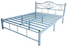 ขาย 17Home โครงเตียงคู่ เตียงเหล็ก ขนาด 6ฟุต สีฟ้า 17Home ผู้ค้าส่ง