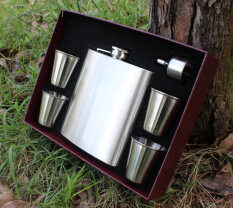 ส่วนลด 18 Oz Set Stainless Steel Hip Flask Not Leaking Stainless Steel Kettle Flagon 500 G