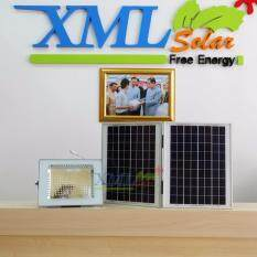 ขาย ไฟสปอตไลท์โซล่าเซลล์ 180 Led โคมเทา เเสง เหลืองวอมไวท์ Xml Solar ถูก