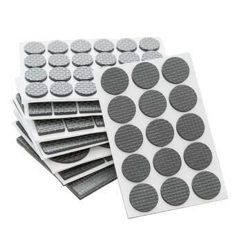 186 ชิ้นเฟอร์นิเจอร์แผ่นเป็นมิตรกับสิ่งแวดล้อม PP Self-adhesive   พื้นกันลื่น Scratch Protector MAT สำหรับโต๊ะเก้าอี้ตู้โทรศัพท์   โซฟาด้านล่างขา-
