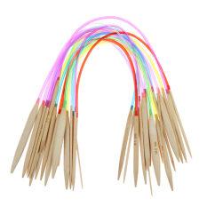ส่วนลด สินค้า 18Pairs 16 40Cm Multicolor Tube Circular Carbonized Bamboo Knitting Needle