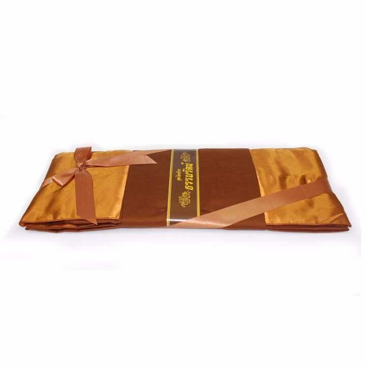 ราคา ผ้าไตรจีวรธรรมรัตน์ ไตรอาศัย (ผ้าโทเร) สีแก่นบวร ขนาด 1.90 X 2.80 ม.