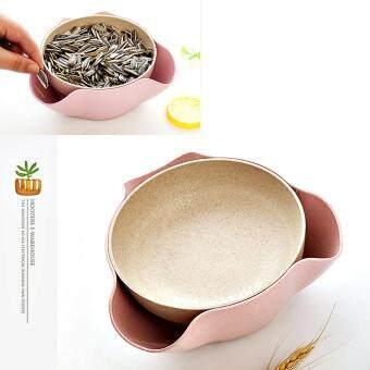 199 ถ้วยใส่ขนม จานขนม candy basket ชามใส่ผลไม้ double fruit plate ที่ใส่ขนม ถ้วยใส่เมล็ด ถ้วยจานชามอเนกประสงค์ถ้วยใส่ถั่วมีที่ทิ้งเปลือก ถ้วยใส่เม็ดทานตะวัน ช่องทิ้งเปลือก ที่ใส่ของอเนกประสงค์ มีช่องสำหรับทิ้งเมล็ดและเปลือก