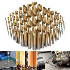 ขาย 19Pcs Set Manual Twist Drill Bits Titanium Coated Hss Drill Bit Tool Kit Of 1Mm 10Mm Intl ใหม่