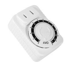 โปรโมชั่น 1Pc 12 Hour Electrical Mechanical Time Wall Plug Switch Digital Countdown Timer Socket Hot Intl ใน จีน