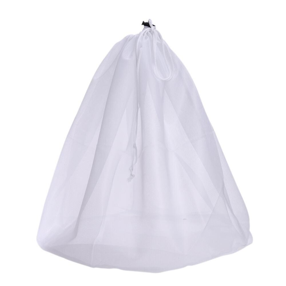 รีวิว 1pc Laundry Bag Clothes Washing Machine Laundry Bra Fine Structure Mesh Bag-(White)L