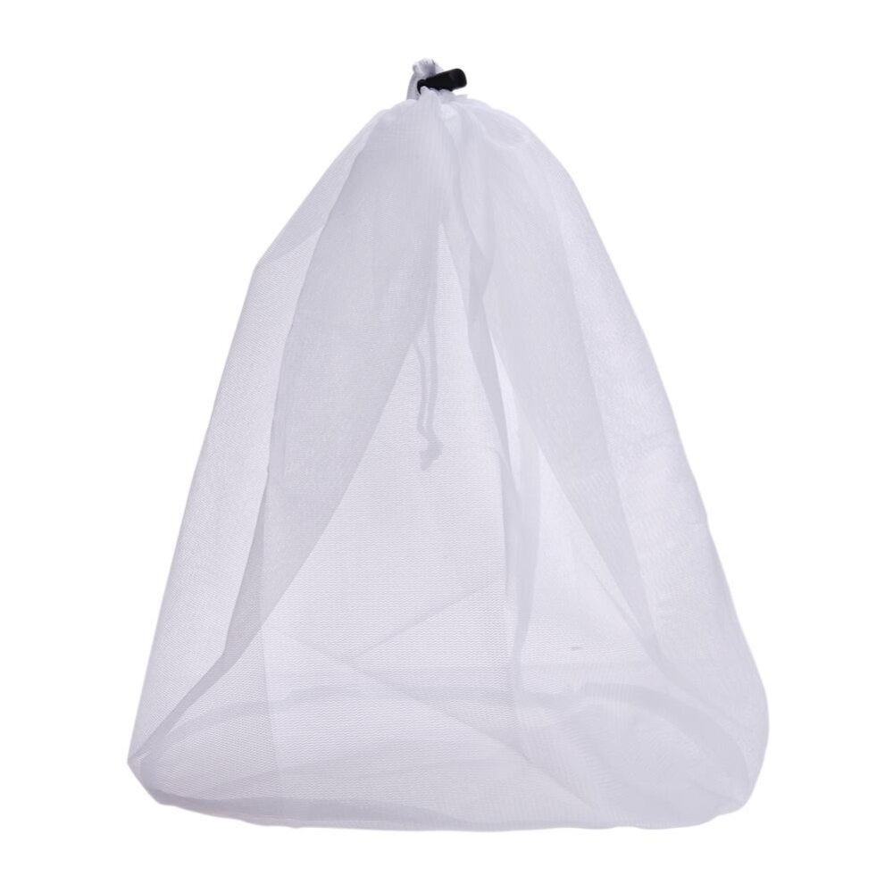 1pc Laundry Bag Clothes Washing Machine Laundry Bra Fine Structure Mesh Bag-(White)S