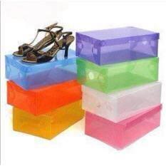 กล่องใส่ รองเท้าแบบใส พับเก็บและวางซ้อนได้ 1Set 6Pcs แบบคละสี Unbranded Generic ถูก ใน กรุงเทพมหานคร