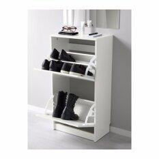 ตู้รองเท้า 2 ช่อง ขาว ขนาด 49X93 ซม เป็นต้นฉบับ