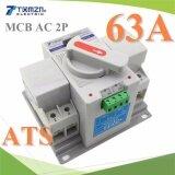 ส่วนลด เบรกเกอร์สวิทช์ 2 ทาง Automatic Transfer ระบบไฟ Ac 2P 63A