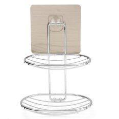 ราคา 2 Deck Soap Holder Dish Basket Hook Bathroom Shower Tray Wall Strong Suction Cup Type1 Intl ออนไลน์ จีน