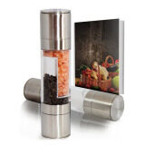 ขาย Salt And Pepper Mill Grinder Glass Pepper Grinder Shaker Spice Salt Container Condiment Jar Holder New Ceramic Grinding Bottles Intl ออนไลน์ จีน