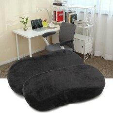 ซื้อ 2 Pcs Memory Foam Armrest Cushion Chair Mats Pads Elbow Arm Rest Cover Black Intl จีน