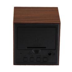 2 X Aaa Usb Powered Mini Wooden Clock Digital Desktop Alarm Clock ใหม่ล่าสุด