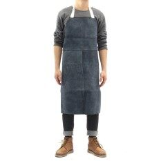 2 X Welding Equipment Welder Heat Insulation Protection Cow Leather Apron 60x90cm Dark Blue - Intl By Threegold.