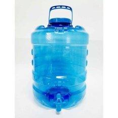ถังน้ำมีก็อกมีหูหิ้วสีฟ้ารุ่นใหม่ล่าสุด20ลิตร Bpa-Free.