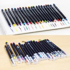 ซื้อ 20 Colors Painting Brush Pen Set Soft Watercolor Copic Markers Fine Tip Design Brush For Manga Comic Calligraphy Intl ใน จีน