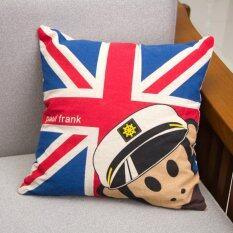 ส่วนลด 2017 Paul Frank Cotton Linen Throw Pillow Case Intl จีน