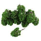 ทบทวน 20Pcs Artificial Plastic Green Leaf Model Tree 9 5Cm 3 7 High 1 100