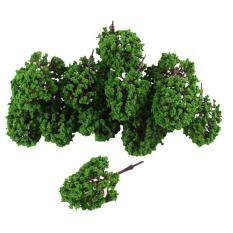 ขาย 20Pcs Artificial Plastic Green Leaf Model Tree 9 5Cm 3 7 High 1 100 จีน
