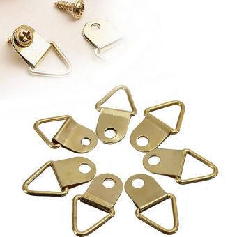 20pcs Golden Metal Photo Picture Frame Hook Hanger Triangle Ring - intl-