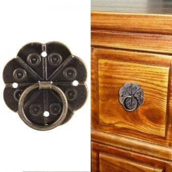 20 ชิ้นเหล็กที่จับลิ้นชักเฟอร์นิเจอร์ตู้โต๊ะกริ่งประตูดึงฮาร์ดแวร์ตกแต่งบ้าน (3x3 เซนติเมตร) - INTL