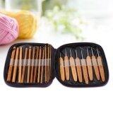 ขาย 20Pcs Set Bamboo Crochet Hooks Knitting Needles Weave Craft Yarn Sewing Tools With Case Unbranded Generic เป็นต้นฉบับ