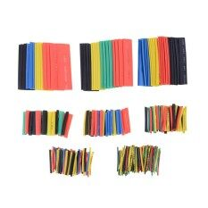ราคา 2 1 Ratio Polyolefin Heat Shrinkable Tubing Sleeving Wrap Cable Kit 328Pcs Intl