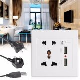 ราคา 2 1A Dual Usb Wall Socket Charger Ac Dc Power Adapter Plug Outlet Panel W Switch Intl ที่สุด