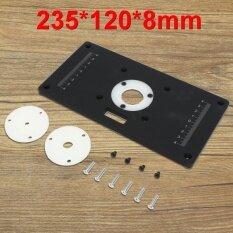 ขาย 235X120X8Mm Diy Aluminum Metal Black Router Table Insert Plate For Woodworking Intl จีน