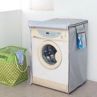 ผ้าคลุมเครื่องซักผ้า2in1-ผ้าSILVER