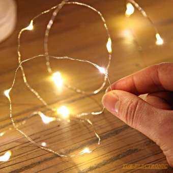 ไฟประดับตบแต่งอเนกประสงค์2M 20LED Micro Rice Wire ลวดทองแดง Fairy String