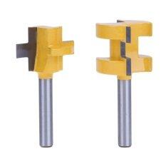 ขาย 2Pcs 1 4 Shank Tongue And Groove Router Bit Set Woodworking Tool Intl Vakind ผู้ค้าส่ง