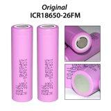 ขาย 2Pcs 18650 Batteries 3 7V 2600Mah Li Ion Rechargeable Battery Pink เป็นต้นฉบับ