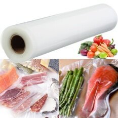 โปรโมชั่น 2Pcs 28Cmx5M Roll Vacuum Sealer Food Saver Bags Reusable Replacement Storage House ใน จีน