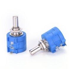 ขาย ซื้อ 2Pcs 3590S 10K 3590S 2 103L 10K Ohm 10 Turn Variable Resistor Potentiometer Blue Intl ใน จีน